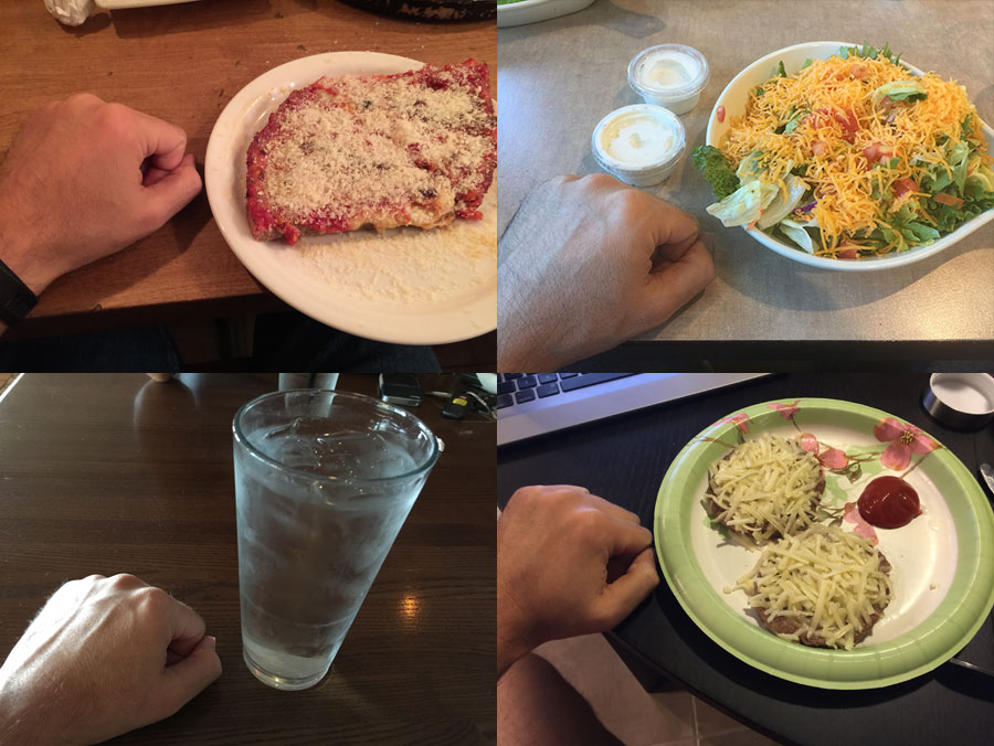 Food with Hand